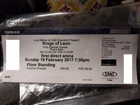 Kings of Leon - Leeds First Direct Arena - Standing - 19th February - x1