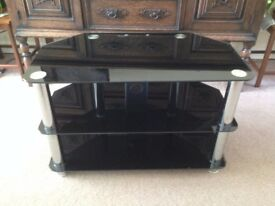 TV glass table in a good condition