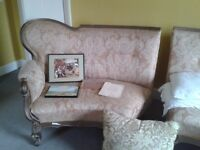 Pair of old Victorian upholstered couches