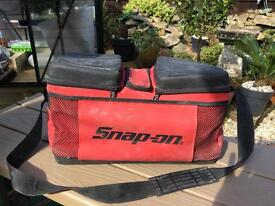 Snap-on the original koozie bag ideal for beers or storing batteries over winter