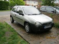 2000 Vauxhall Corsa 1.2, long mot, low miles