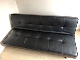Black sofa bed
