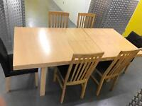 Extendable table and 6 chairs, Free delivery