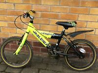 "Kids Raleigh charge bike. 16"" wheels Suit 4 to 7 year old"