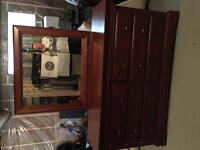Large Dresser , Brown in colour , 6 Droors & Lg. Mirror