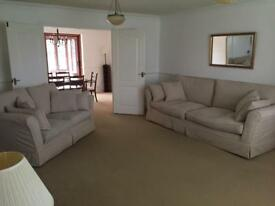 Two Large and medium sofas