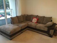 Lovely brown corner sofa