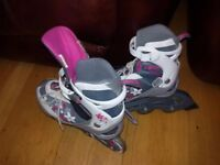 Girls Roller Blades (Purple/White)