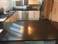 Cream Gloss Kitchen, Excellent Condition For Sale