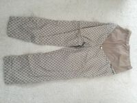 Seraphine tile coloured crop trousers