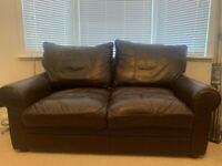 FREE 2 seater brown leather sofa