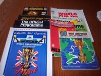 World Cup Football Tournament Brochures from 1966 - 2010