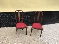 A lovely pair of Edwardian Bedroom/Hall Chairs