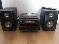 Hitachi AX-M136i CD USB MP3 DAB FM Radio iPod Micro Hi-Fi Music Speaker System