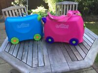 Trunki x2 ,blue and pink well used with scuffs £10 the 2.