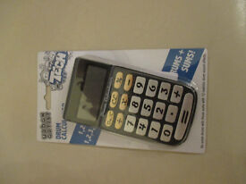 brand new calculaters ideal stocking filler.doubles up as drum kit
