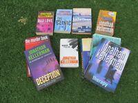 Used Jonathan and Faye Kellerman crime novels.