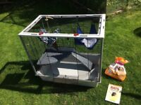 Rat cage plus accessories, food, bedding all nearly new