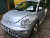 Volkswagen Beetle 1596cc Petrol 5 speed manual 3 door hatchback 02 plate 19/07/2002 Silver