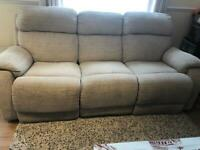 7 Seater DFS Recliner Sofa Set With Footstool