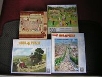SWAP!! - JIGSAW PUZZLES - 500 - 1,000 PIECE. - ALL COMPLETE. - FOR JIGSAW PUZZLES. - WHY??.