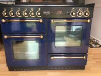 RANGEMASTER 110 COOKER BLUE/BRASS WITH GLASS LID
