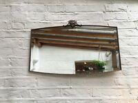 Vintage Art Deco wall mirror mantelpiece