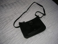 Black Leather Handbag as new used once only