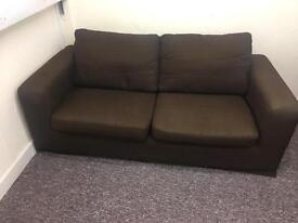 Brown 2 Seater Sofa - No Rips etc