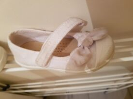 Next white baby shoes size 4