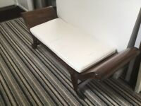 Solid Teak bench/chaise longe