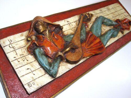 J. Segura Signed Fiberglass Sculpture Mid Century