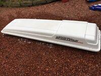 Large half width roofbox