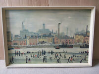 L. S. Lowry vintage official print - Lithograph on board 64cm X 44cm