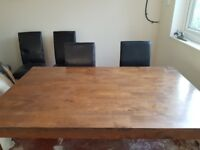 Dining Table & 6 Leather look Chairs