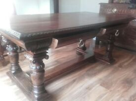 antique refectory table very unique