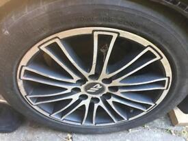 X4 alloys wheels multifit 195/50r15