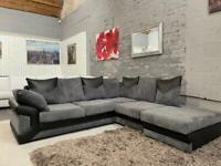 Beautiful corner sofa with footstool