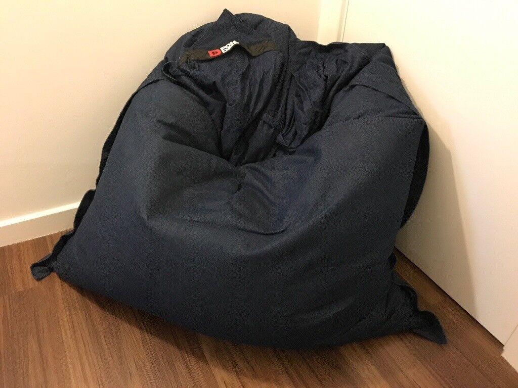 LARGE BEAN BAG \ DAY BED - POUF DADDY DENIM BEAN BAG