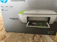 HP colour printer, scans, includes ink, instructions and box, fully working.