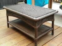 Rectangular Wicker Table