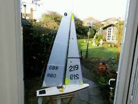 Radio-controlled model yachts one metre