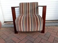 Modern Striped Occassional Chair