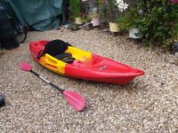 Kayak Triumph Perception in Great Condition. Feel Free Nomad Sport, sit on top model.