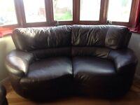 Stylish 3 piece leather suite