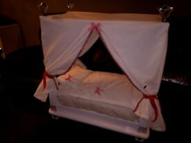 Hand made dolls bed