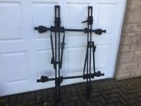 Thule bike rack for two bikes. As new.