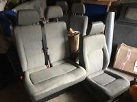 VW Transporter T5 drivers and passengers seat