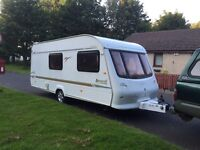 Elddis avante 2002 524/ 4 berth end changing facility full awning Electric heating system three way