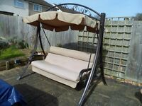 Robust 3 Seater Garden Swing & Canopy
